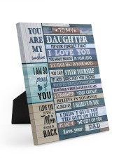 YOU CAN STEER YOURSELF - LOVELY GIFT FOR DAUGHTER Easel-Back Gallery Wrapped Canvas tile