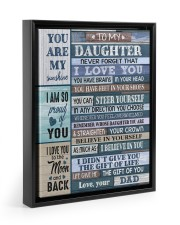 YOU CAN STEER YOURSELF - LOVELY GIFT FOR DAUGHTER Floating Framed Canvas Prints Black tile