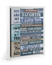 YOU CAN STEER YOURSELF - LOVELY GIFT FOR DAUGHTER Floating Framed Canvas Prints White tile