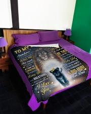 """I LOVE YOU - GREAT GIFT FOR DAUGHTER Large Fleece Blanket - 60"""" x 80"""" aos-coral-fleece-blanket-60x80-lifestyle-front-01"""