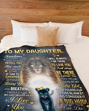 """I LOVE YOU - GREAT GIFT FOR DAUGHTER Large Fleece Blanket - 60"""" x 80"""" aos-coral-fleece-blanket-60x80-lifestyle-front-02"""
