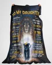 """I LOVE YOU - GREAT GIFT FOR DAUGHTER Large Fleece Blanket - 60"""" x 80"""" aos-coral-fleece-blanket-60x80-lifestyle-front-10"""