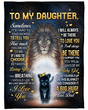 """I LOVE YOU - GREAT GIFT FOR DAUGHTER Large Fleece Blanket - 60"""" x 80"""" front"""