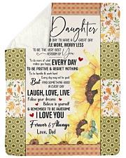 I LOVE YOU - GREAT GIFT FOR DAUGHTER  Sherpa Fleece Blanket tile