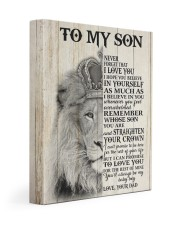 MY BABY BOY - TO SON FROM DAD 11x14 Gallery Wrapped Canvas Prints front