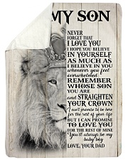 MY BABY BOY - TO SON FROM DAD Sherpa Fleece Blanket tile