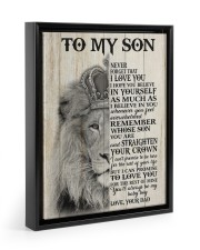 MY BABY BOY - TO SON FROM DAD Floating Framed Canvas Prints Black tile