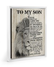 MY BABY BOY - TO SON FROM DAD Floating Framed Canvas Prints White tile
