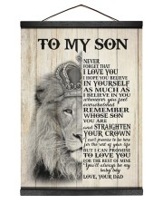 MY BABY BOY - TO SON FROM DAD Hanging Canvas tile