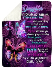 "MY LOVE FOR YOU IS FOREVER - GIFT FOR DAUGHTER Large Sherpa Fleece Blanket - 60"" x 80"" thumbnail"