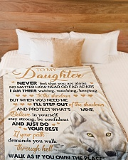 """JUST DO YOUR BEST - BEST GIFT FOR DAUGHTER Large Fleece Blanket - 60"""" x 80"""" aos-coral-fleece-blanket-60x80-lifestyle-front-02"""