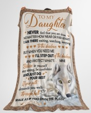 """JUST DO YOUR BEST - BEST GIFT FOR DAUGHTER Large Fleece Blanket - 60"""" x 80"""" aos-coral-fleece-blanket-60x80-lifestyle-front-10"""