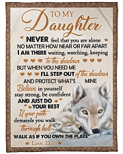"""JUST DO YOUR BEST - BEST GIFT FOR DAUGHTER Large Fleece Blanket - 60"""" x 80"""" front"""