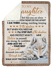 """JUST DO YOUR BEST - BEST GIFT FOR DAUGHTER Large Sherpa Fleece Blanket - 60"""" x 80"""" thumbnail"""