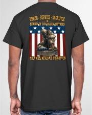 YOU WILL NEVER BE FORGOTTEN Classic T-Shirt garment-tshirt-unisex-back-04