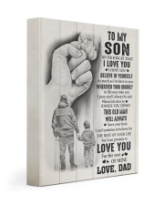 BELIEVE IN YOURSELF - TO SON FROM DAD 11x14 Gallery Wrapped Canvas Prints front