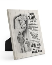 BELIEVE IN YOURSELF - TO SON FROM DAD 8x10 Easel-Back Gallery Wrapped Canvas thumbnail
