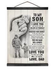 BELIEVE IN YOURSELF - TO SON FROM DAD 12x16 Black Hanging Canvas thumbnail