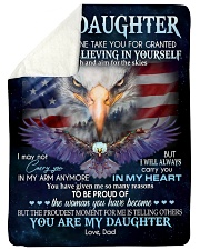 "YOU ARE DAUGHTER Large Sherpa Fleece Blanket - 60"" x 80"" thumbnail"