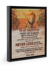 I WANT YOU TO BELIEVE DEEP IN YOUR HEART 11x14 Black Floating Framed Canvas Prints thumbnail