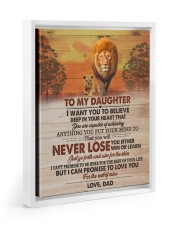 I WANT YOU TO BELIEVE DEEP IN YOUR HEART 11x14 White Floating Framed Canvas Prints thumbnail