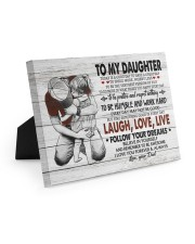 FOLLOW YOUR DREAMS - LOVELY GIFT FOR DAUGHTER Easel-Back Gallery Wrapped Canvas tile
