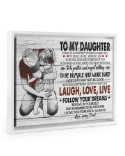 FOLLOW YOUR DREAMS - LOVELY GIFT FOR DAUGHTER Floating Framed Canvas Prints White tile