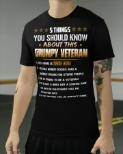 5 THINGS YOU SHOULD KNOW ABOUT THIS GRUMPY VETERAN Classic T-Shirt apparel-classic-tshirt-lifestyle-front-103