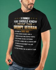 5 THINGS YOU SHOULD KNOW ABOUT THIS GRUMPY VETERAN Classic T-Shirt apparel-classic-tshirt-lifestyle-front-87