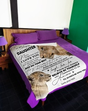 """I LOVE YOU - BEST GIFT FOR DAUGHTER Large Fleece Blanket - 60"""" x 80"""" aos-coral-fleece-blanket-60x80-lifestyle-front-01"""