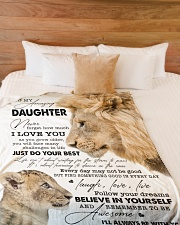 """I LOVE YOU - BEST GIFT FOR DAUGHTER Large Fleece Blanket - 60"""" x 80"""" aos-coral-fleece-blanket-60x80-lifestyle-front-02"""