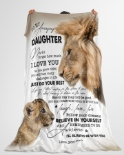 """I LOVE YOU - BEST GIFT FOR DAUGHTER Large Fleece Blanket - 60"""" x 80"""" aos-coral-fleece-blanket-60x80-lifestyle-front-10"""