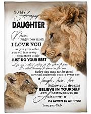 "I LOVE YOU - BEST GIFT FOR DAUGHTER Large Fleece Blanket - 60"" x 80"" front"