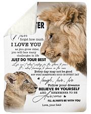 I LOVE YOU - BEST GIFT FOR DAUGHTER Sherpa Fleece Blanket tile