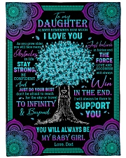 """ALWAYS REMEMBER HOW MUCH I LOVE YOU Large Fleece Blanket - 60"""" x 80"""" front"""