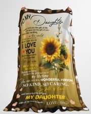 "I AM PROUD TO CALL YOU MY DAUGHTER Large Fleece Blanket - 60"" x 80"" aos-coral-fleece-blanket-60x80-lifestyle-front-10"