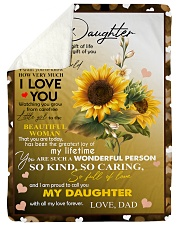 "I AM PROUD TO CALL YOU MY DAUGHTER Large Sherpa Fleece Blanket - 60"" x 80"" thumbnail"