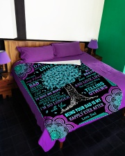 """JUST REMEMBER THAT YOU MEAN THE WORLD TO ME Large Fleece Blanket - 60"""" x 80"""" aos-coral-fleece-blanket-60x80-lifestyle-front-01"""