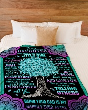 """JUST REMEMBER THAT YOU MEAN THE WORLD TO ME Large Fleece Blanket - 60"""" x 80"""" aos-coral-fleece-blanket-60x80-lifestyle-front-02"""
