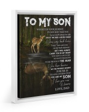 YOUR WAY BACK HOME - SPECIAL GIFT FOR SON Floating Framed Canvas Prints White tile