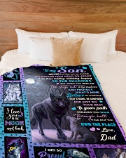 """NEVER FEEL THAT YOU ARE ALONE Large Fleece Blanket - 60"""" x 80"""" aos-coral-fleece-blanket-60x80-lifestyle-front-02"""