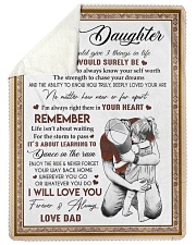 "I WILL LOVE YOU - BEST GIFT FOR DAUGHTER Large Sherpa Fleece Blanket - 60"" x 80"" thumbnail"