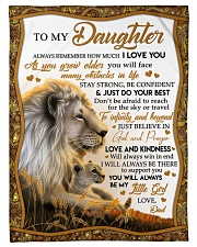 JUST DO YOUR BEST - TO DAUGHTER FROM DAD Fleece Blanket tile