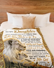 """JUST DO YOUR BEST - TO DAUGHTER FROM DAD Large Fleece Blanket - 60"""" x 80"""" aos-coral-fleece-blanket-60x80-lifestyle-front-02"""