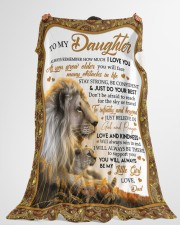 """JUST DO YOUR BEST - TO DAUGHTER FROM DAD Large Fleece Blanket - 60"""" x 80"""" aos-coral-fleece-blanket-60x80-lifestyle-front-10"""