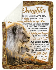 JUST DO YOUR BEST - TO DAUGHTER FROM DAD Sherpa Fleece Blanket tile