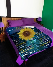 """NEVER FORGET THAT YOU ARE MY SUNSHINE Large Fleece Blanket - 60"""" x 80"""" aos-coral-fleece-blanket-60x80-lifestyle-front-01"""