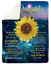 """NEVER FORGET THAT YOU ARE MY SUNSHINE Large Sherpa Fleece Blanket - 60"""" x 80"""" thumbnail"""