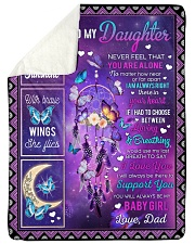 """YOU ARE MY SUNSHINE - TO DAUGHTER FROM DAD Large Sherpa Fleece Blanket - 60"""" x 80"""" thumbnail"""