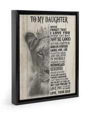 I LOVE YOU - BEST GIFT FOR DAUGHTER Floating Framed Canvas Prints Black tile
